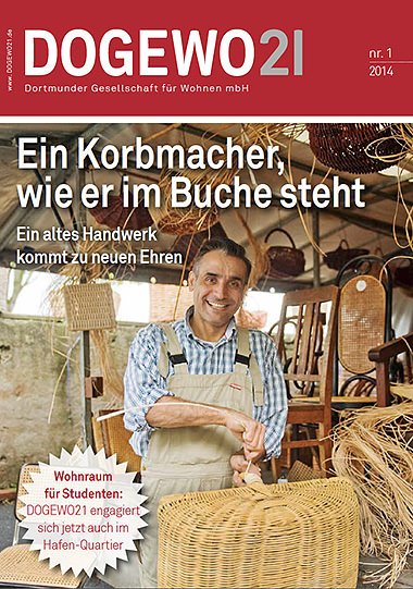 Stuhlflechterei Rattanburg in der DOGEWO Kundenzeitschrift