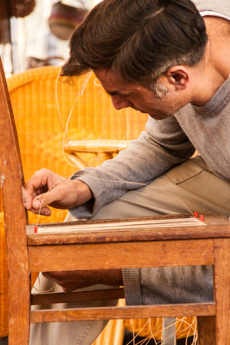 Stuhlflechterei Für Stuhlgeflechtarbeiten Und Korbgeflechte