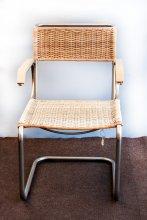 Thonet Stuhl mit erneuertem Geflecht